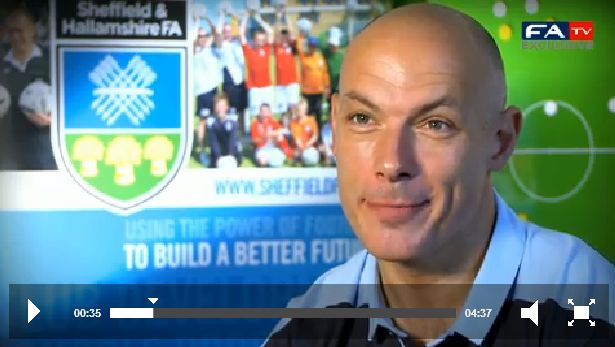 Referee Howard Webb Howard Webb on FA tv screenshot.