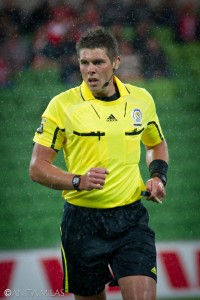 Australian A-League referee Shaun Evans. Photo: Refsworld / Anita Milas