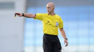 Fifa referee Arnold Hunter form Fermanagh Northern Ireland.