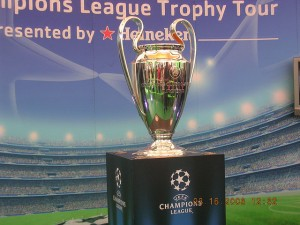 Champions League trophy.
