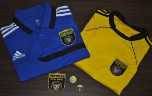 New York Soccer Referee kits to wear during presentations or for the trainer.