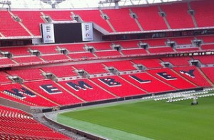 Wembley stadium, venue of the 2012/2013 Champions League Final.