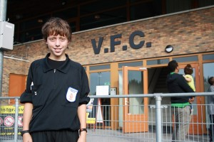 Jim Meinen, referee at VFC Vlaardingen.
