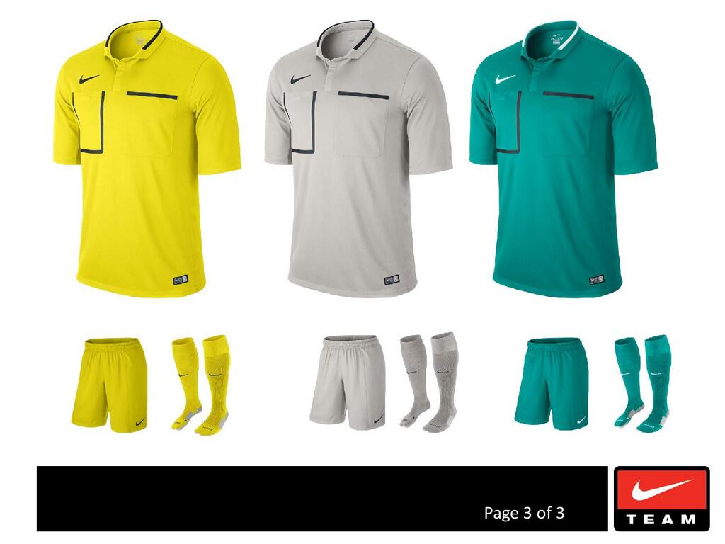 Nike 2014-2015 referee kit.