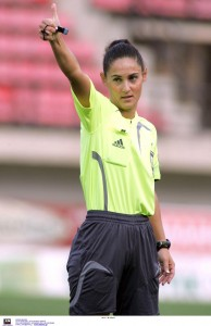 Thalia Mitsi in action. Photo provided by referee.