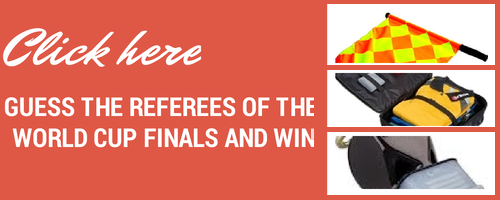 Banner you can click to guess World Cup referees and win prizes.