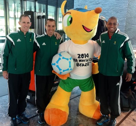 Mark Geiger, Sean Hurd and Joe Fletcher.  Photo published with courtesy of Professional Soccer Referee Association (PSRA)