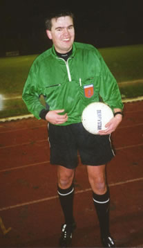 Sander van Roekel when he was a young referee.