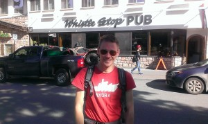 Referee season starts soon. Photo during summer break holiday to the Whistle Stop Pub in Jasper, Alberta, Canada.