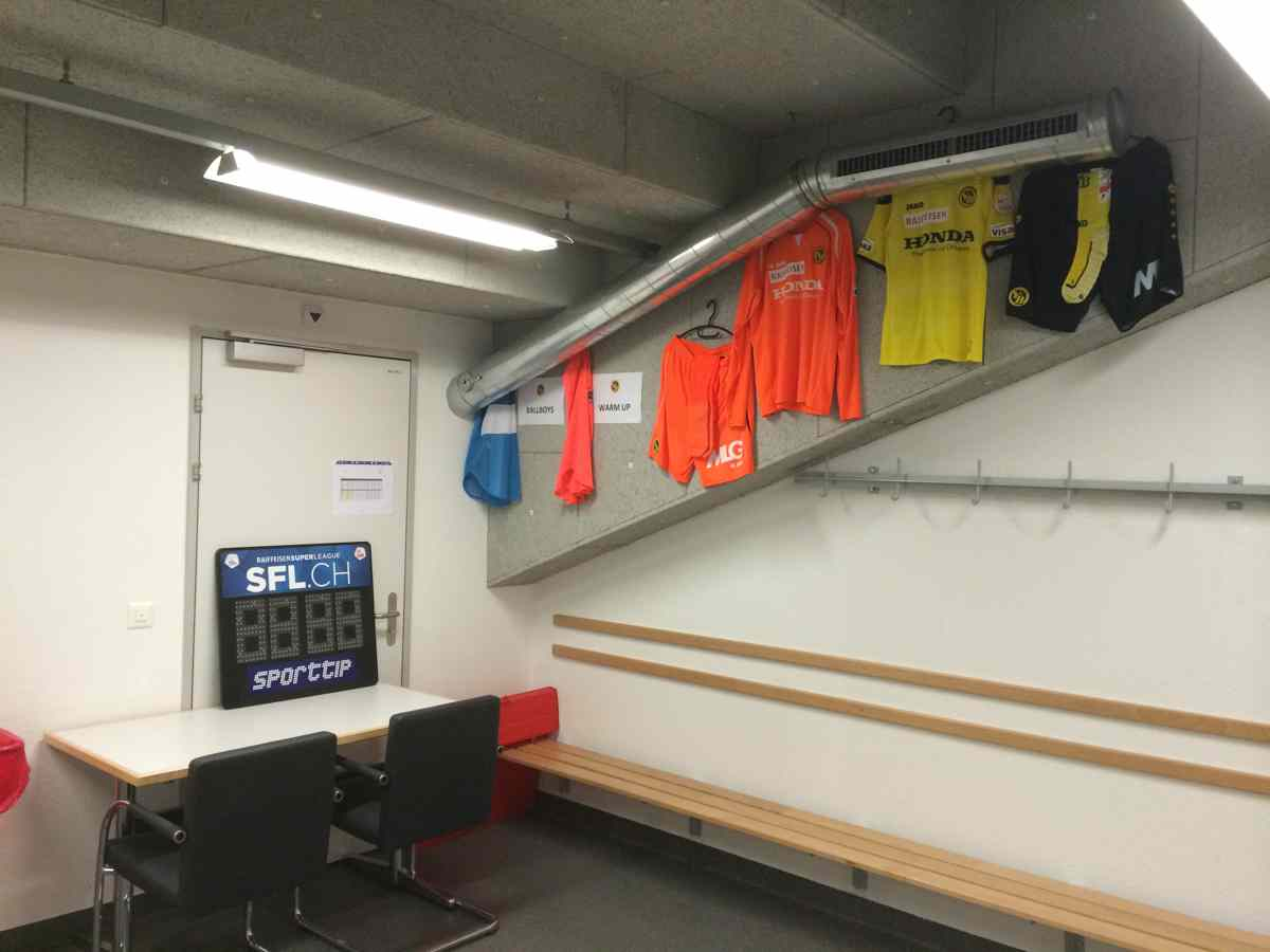 Stade de Suisse referee dressing room - changing area.