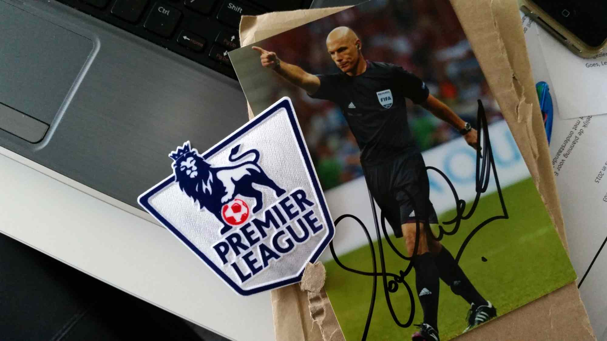 Premier League badge from Howard Webb