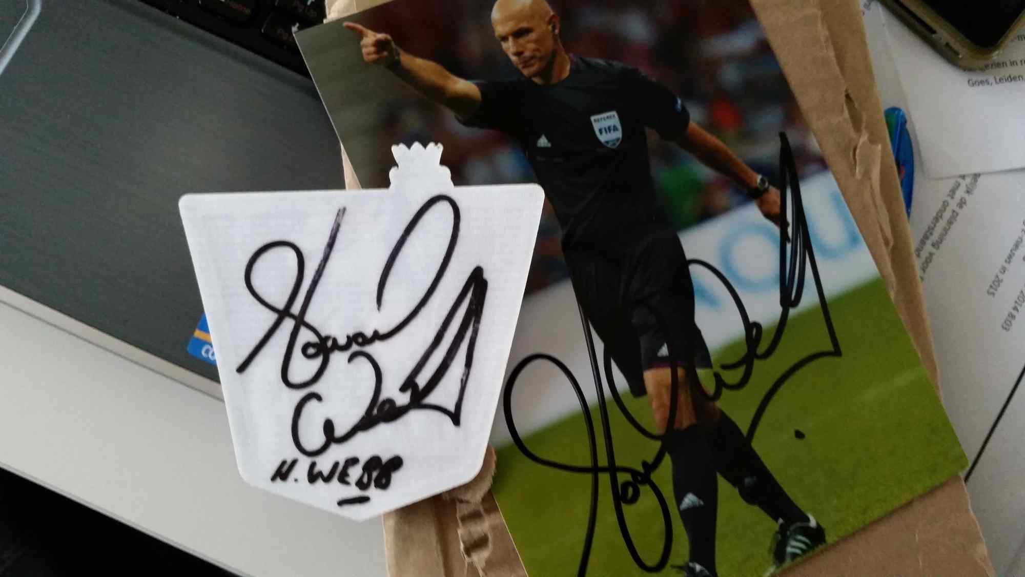 Howard Webb autographed referee badge