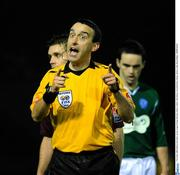 Referee Ian Stokes