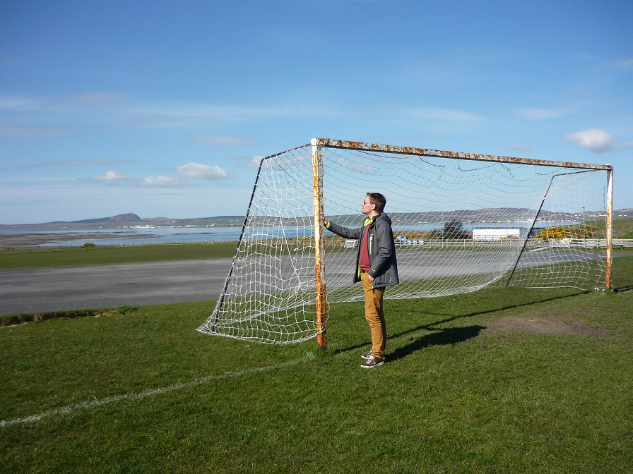 Refereeing in Scotland: pitch inspection of Bowmore field