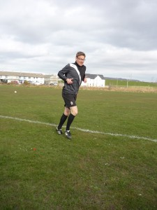 Jan doing warming-up