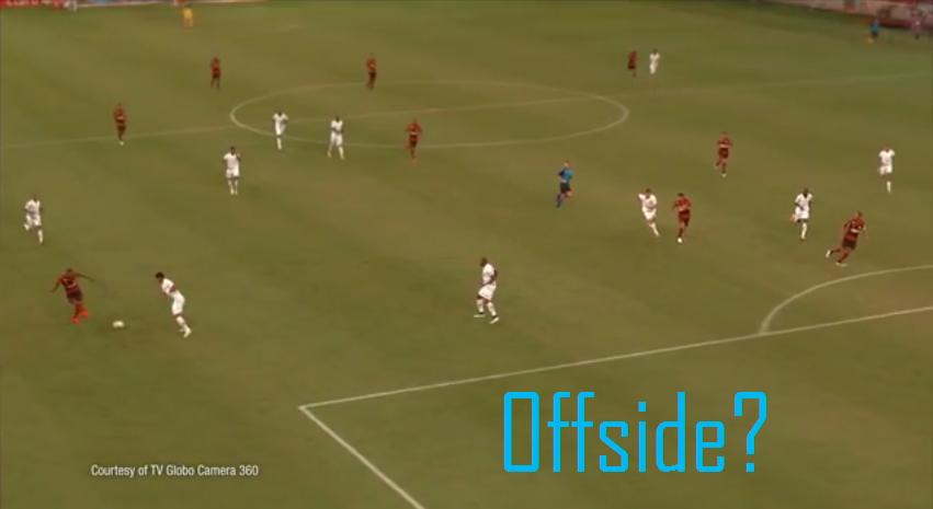 Screenshot of FreeD technology about offside.