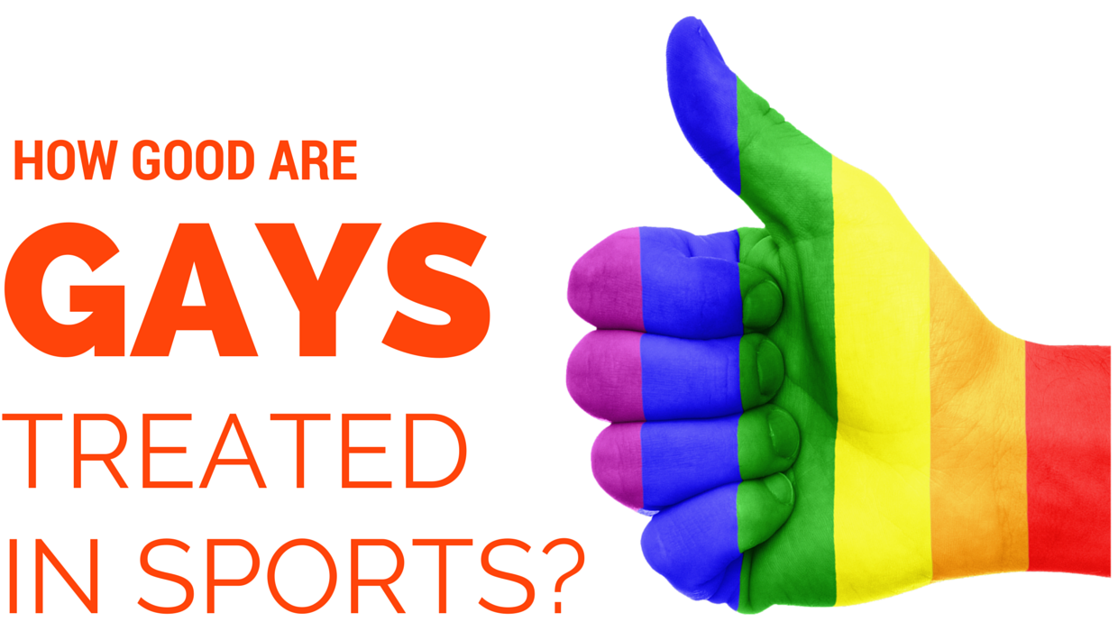 Banner about homosexuals in sports and how they are treated