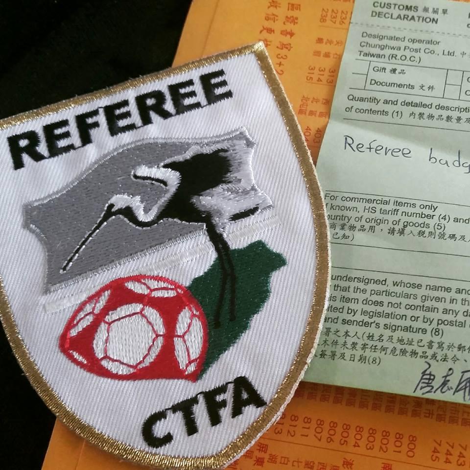 Taiwan referee badge