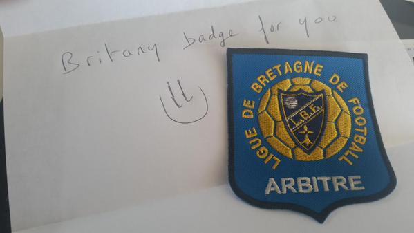 Brittany referee badge