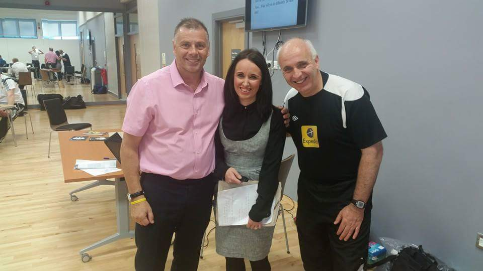 Jamie Wallace with Mark Halsey and Andy Hogg at a recent Referee Development Seminar