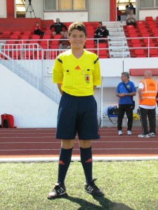 Seth Galia, referee from Gibraltar.