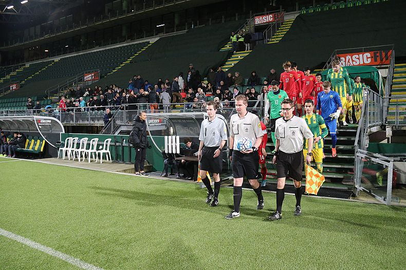 ADO vs China u19: entering the pitch