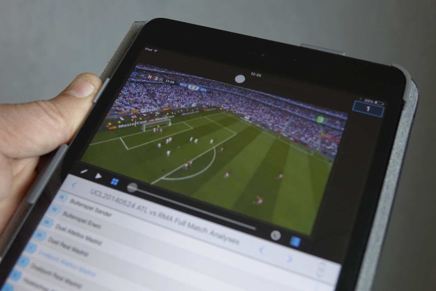 Video analysis on a mobile device.