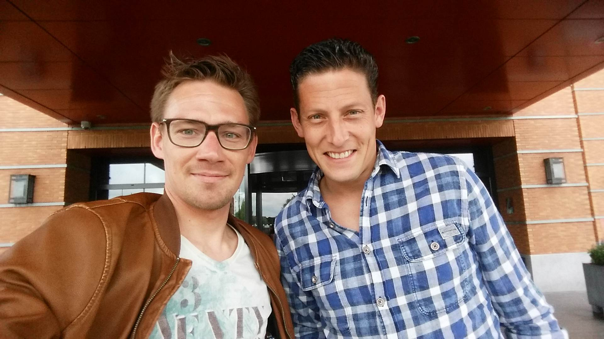 Jeroen Manschot (right) and me