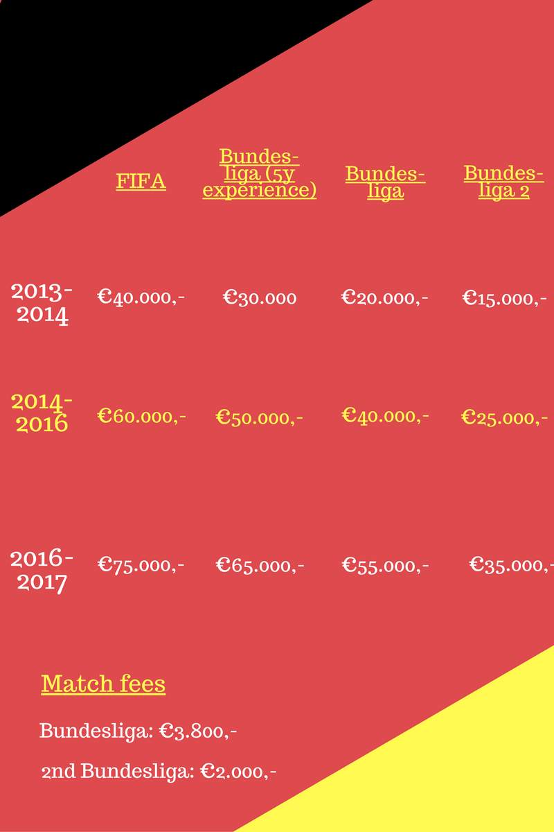 Salary of German referees