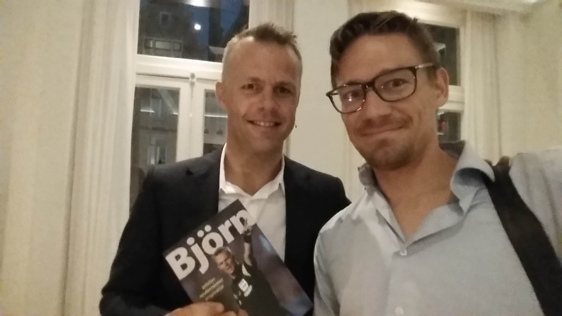 Me at Bjorn Kuipers book launch