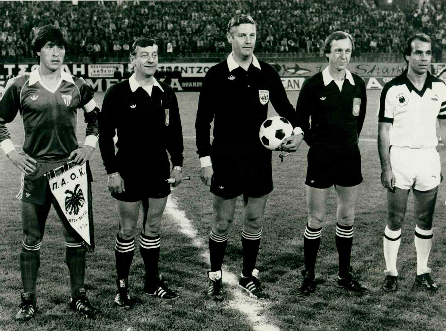 Charles Corver in Uefa Cup game between PAOK and Sevilla