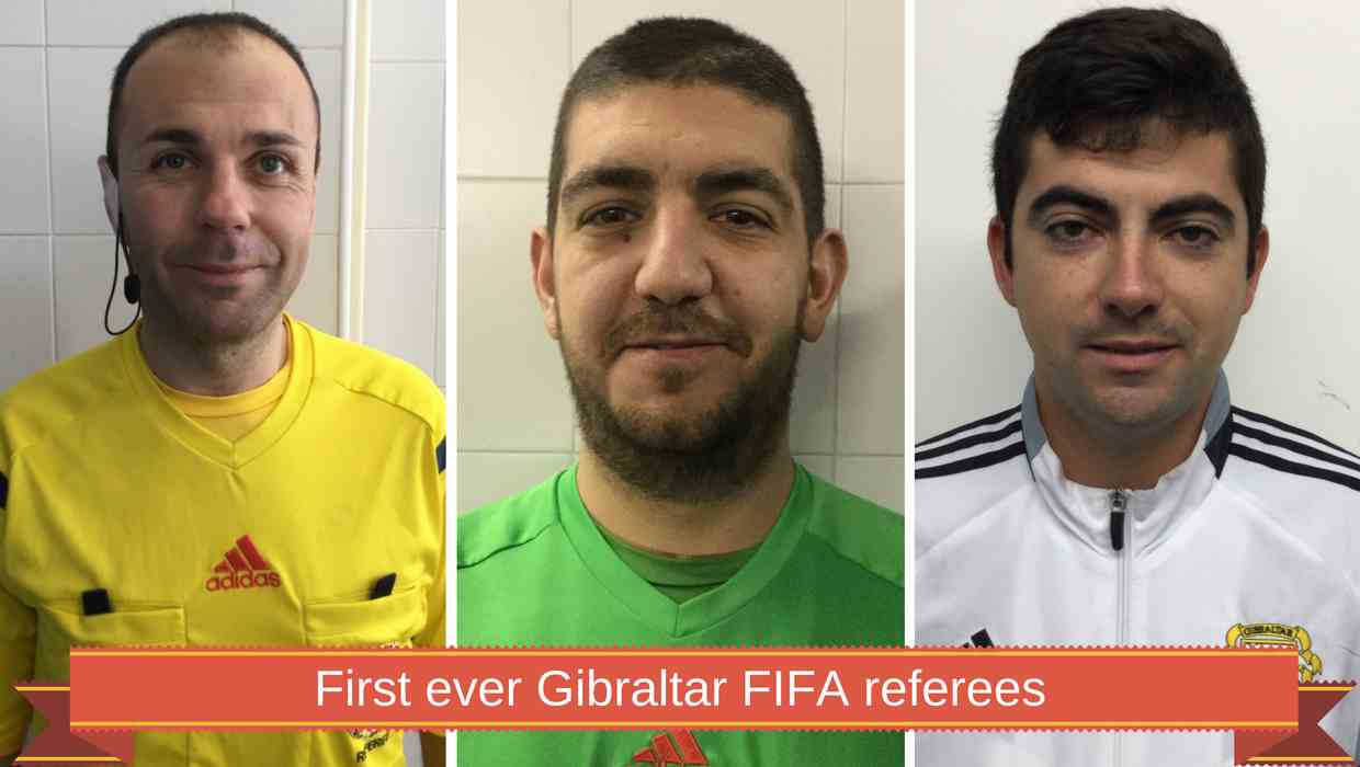 First ever Gibraltar FIFA referees