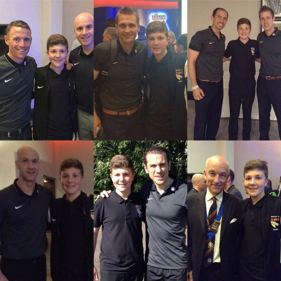 Harvey Newstead with professional referees