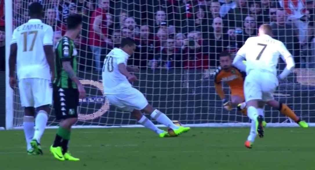 Bacca touching the ball twice at penalty kick