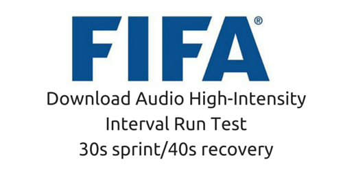 Fifa high intensity test 30/40