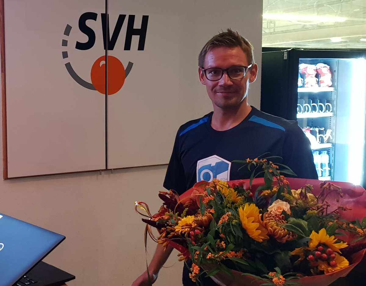 Week of the Referee: me with flowers