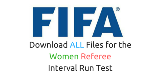 You'll go to the ALL Fifa fitness test for referees (women)