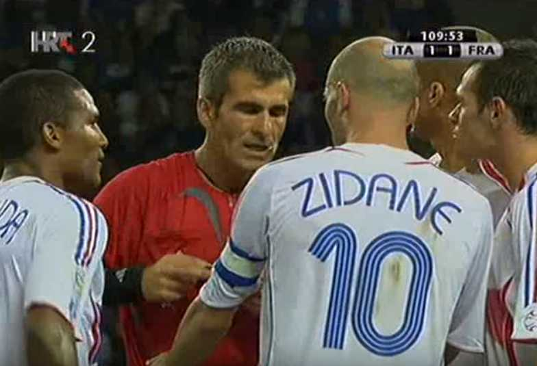 Zidane headbutt punished by referee Horacio Elizondo