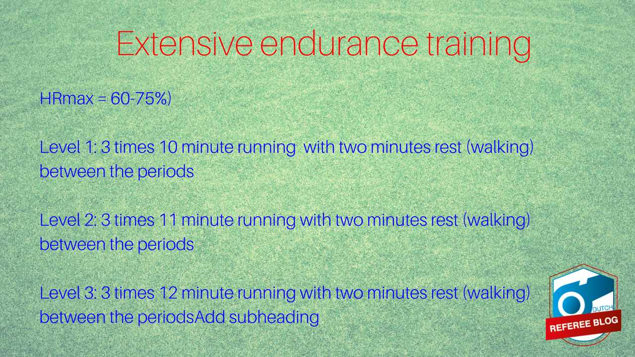 Pre-season fitness tips to start the season: extensive endurance training