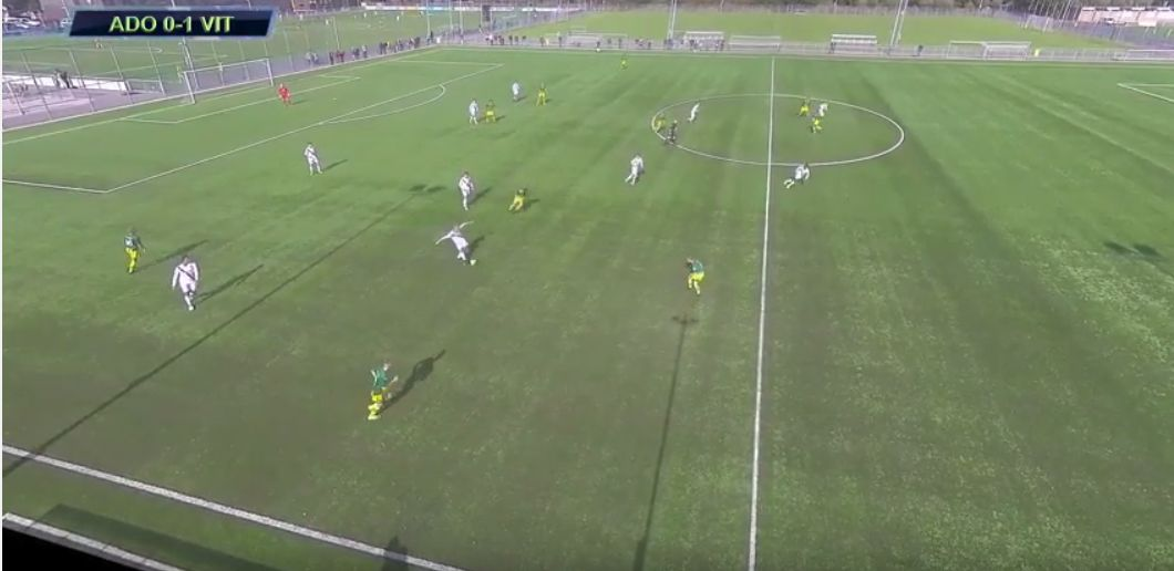The secondlast defender makes the attacker not offside.