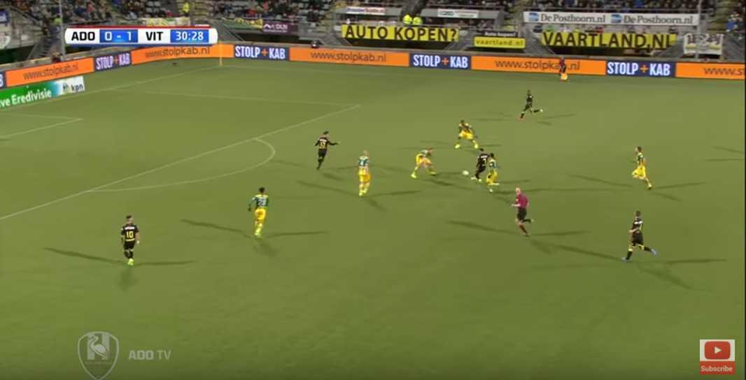 Van Wolfswinkel in offside position.