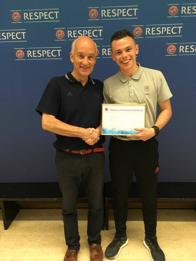 Centre of Refereeing Excellence diploma for John Andrew Jones