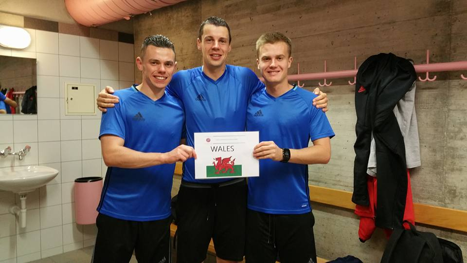 Welsh referees with their Centre of Refereeing Excellence diploma