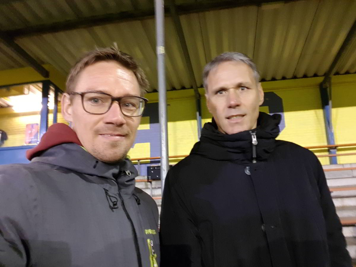 Marco van Basten and me.