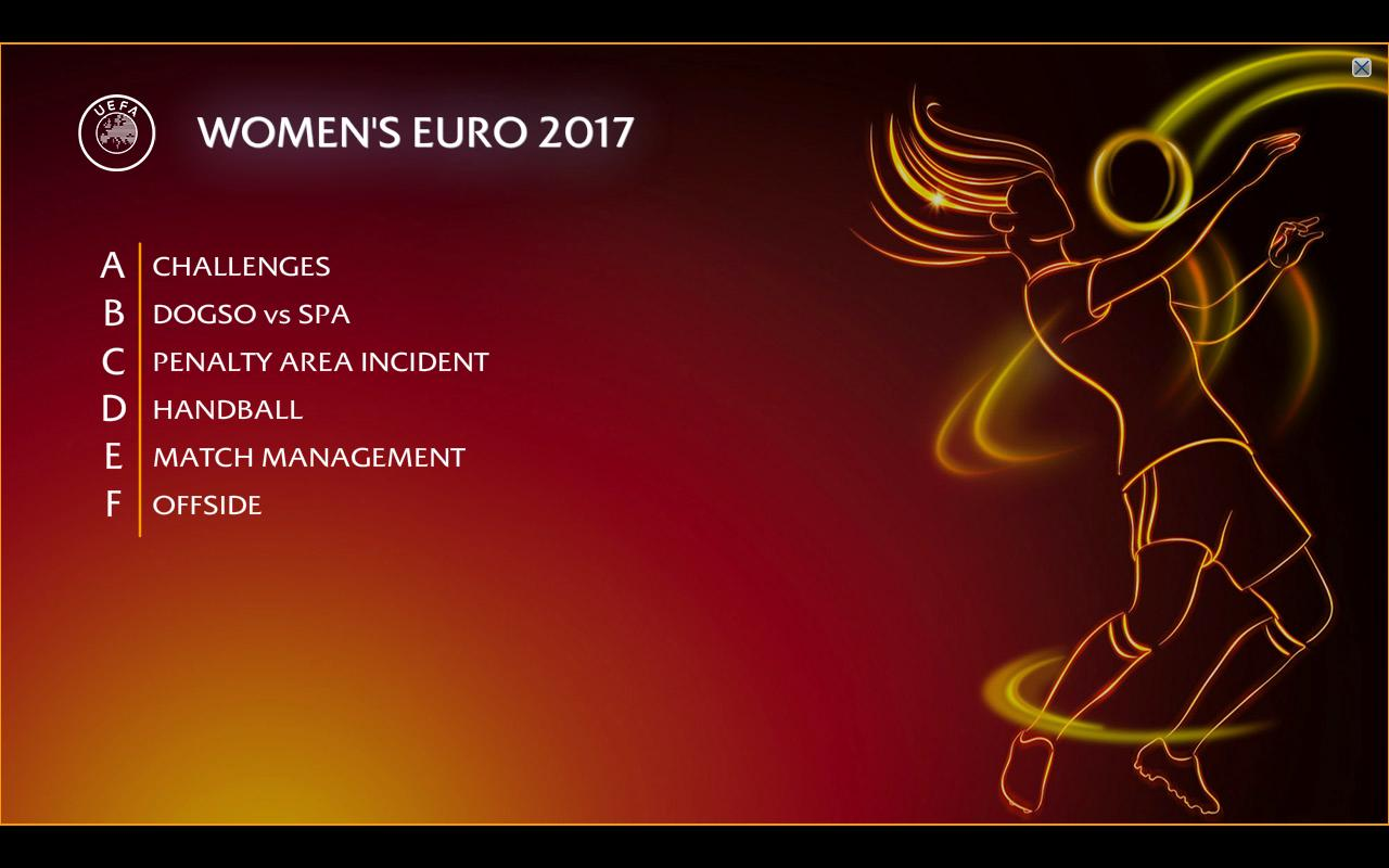 Refereeing Assistance Programme Women's Euro
