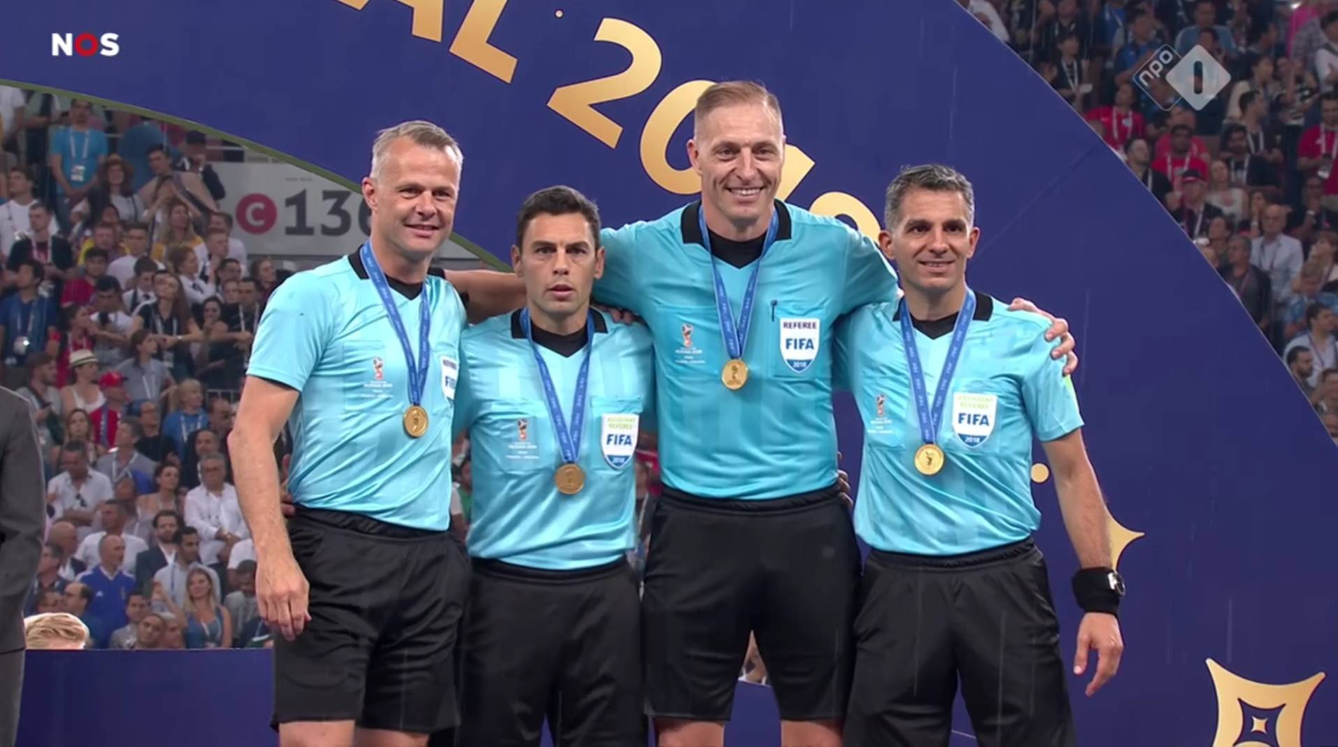 World Cup final referees and medals