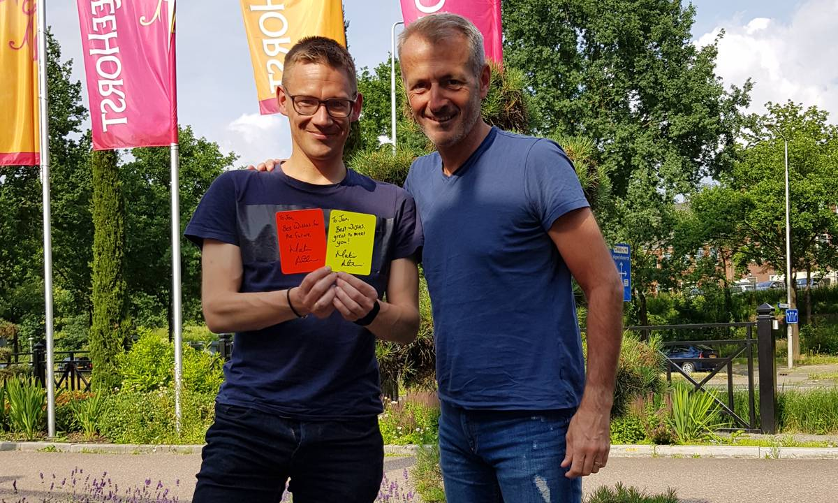 Martin Atkinson and Jan from Dutch Referee Blog