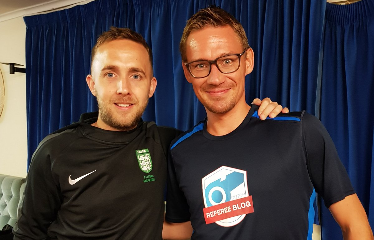 Southend Referees Society chairman Jamie Pope and me