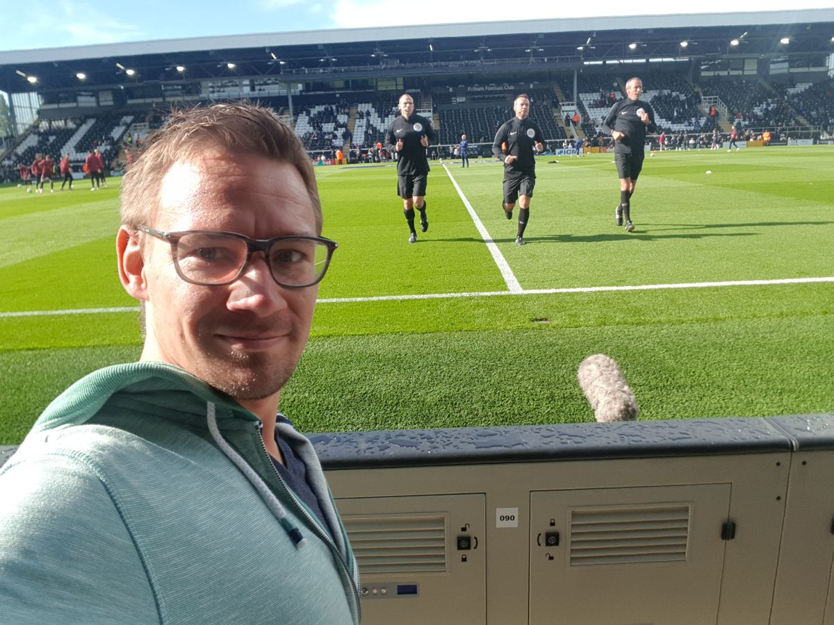 Me and Paul Tierney at Craven Cottage