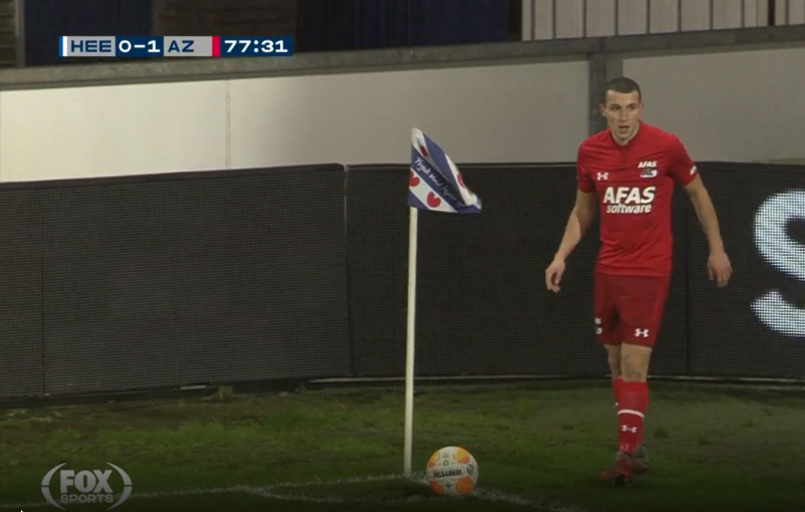 Idrissi scoring directly from a cornere kick
